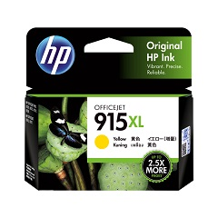 Genuine HP 915XL Yellow ink cartridge