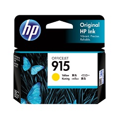 Genuine HP 915 Yellow ink cartridge