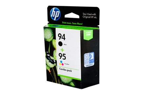 2 Pack Combo Genuine HP94/HP95 (1BK/1C) ink cartridges