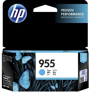 Genuine HP 955 Cyan Ink Cartridge L0S51AA