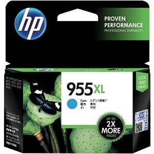 Genuine HP 955XL Cyan Ink Cartridge L0S63AA