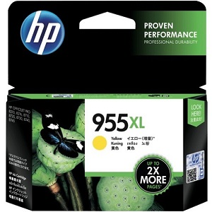 Genuine HP 955XL Yellow Ink Cartridge L0S69AA