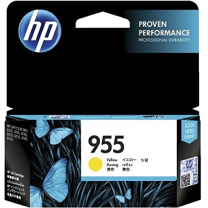Genuine HP 955 Yellow Ink Cartridge L0S57AA