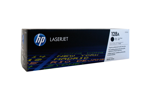 Genuine HP128A Black toner cartridge (CE320A)