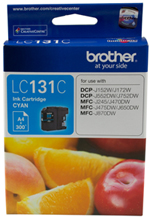 Genuine Brother LC131C (Cyan) ink cartridge