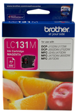 Genuine Brother LC131M (Magenta) ink cartridge