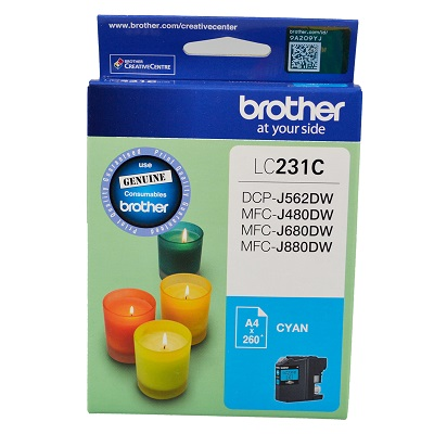 Genuine Brother LC231C (Cyan) ink cartridge