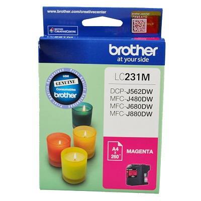 Genuine Brother LC231M (Magenta) ink cartridge