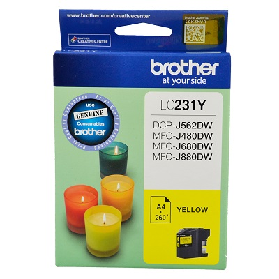 Genuine Brother LC231Y (Yellow) ink cartridge