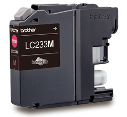 Genuine Brother LC233M (Magenta) ink cartridge