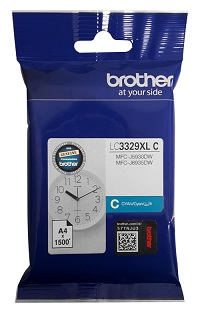 Genuine Brother LC3329XL Cyan Ink Cartridge