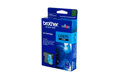 Genuine Brother LC67C (Cyan) ink cartridge