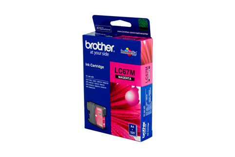 Genuine Brother LC67M (Magenta) ink cartridge