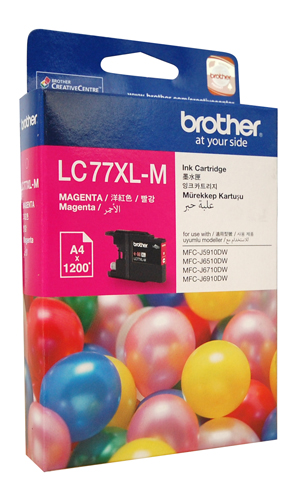 Genuine Brother LC77XL-M (Magenta) ink cartridge