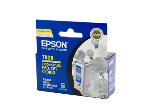 Genuine Epson T028 Black ink cartridge