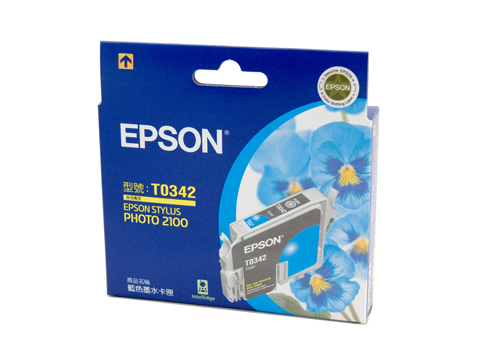 Genuine Epson T0342 Cyan ink cartridge
