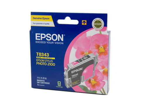 Genuine Epson T0343 Magenta ink cartridge
