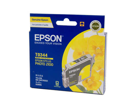 Genuine Epson T0344 Yellow ink cartridge