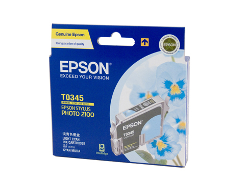 Genuine Epson T0345 Light Cyan ink cartridge