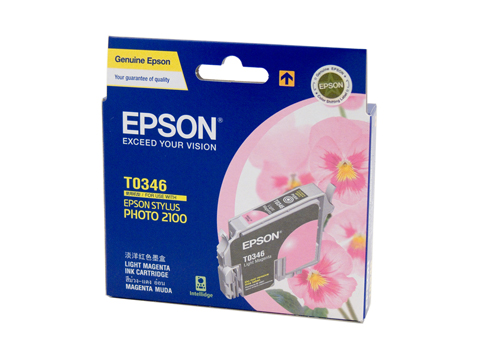 Genuine Epson T0346 Light Magenta ink cartridge