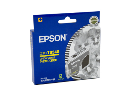 Genuine Epson T0348 Matte Black ink cartridge