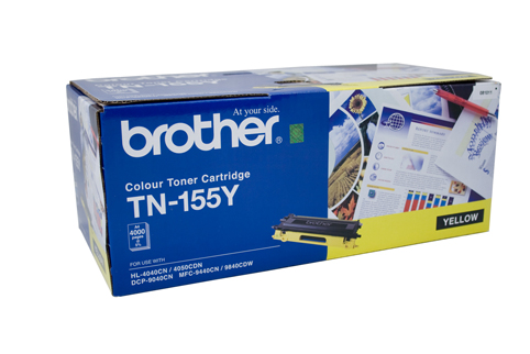 Genuine Brother TN155 Yellow toner cartridge