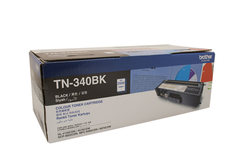 Genuine Brother TN340 Black laser toner cartridge
