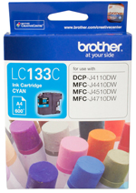 Genuine Brother LC133C (Cyan) ink cartridge