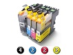 Compatible Brother LC233 ink cartridges 10 Pack Combo (4BK/2C/2M/2Y)