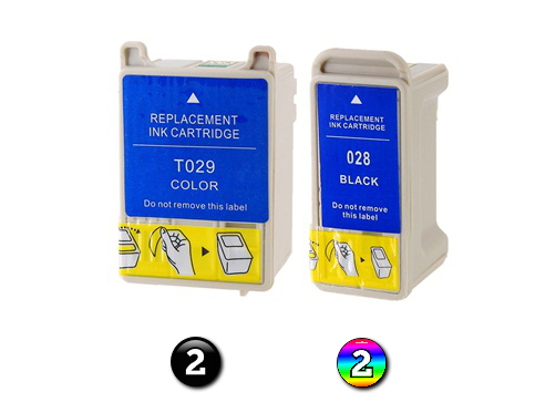 4 Pack Combo Compatible Epson T028/T029 (2BK/2COL) ink cartridges