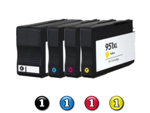 4 Pack Combo Compatible HP ink cartridges HP950XL/HP951XL(1BK/1C/1M/1Y)