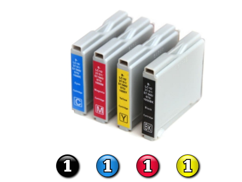4 Pack Combo Compatible Brother LC57 (1BK/1C/1M/1Y) ink cartridges