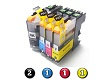 Compatible Brother LC231XL/LC233 ink cartridges 5 Pack Combo (2BK/1C/1M/1Y)