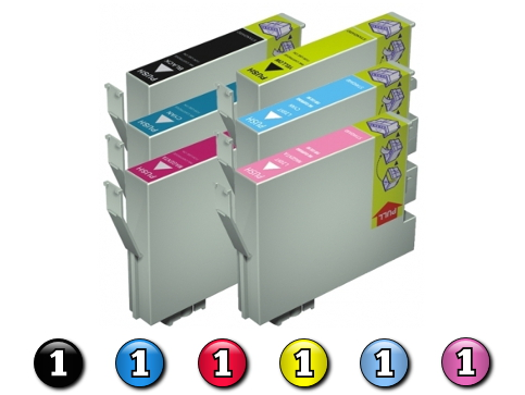 6 Pack Combo Compatible Epson 81N (BK/C/M/Y/LC/LM) ink cartridges