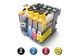 Compatible Brother LC233 ink cartridges 8 Pack Combo (2BK/2C/2M/2Y)